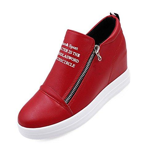 Snbling Sneakers Con Zeppa Nascoste Con Tacco A Zeppa Rosse