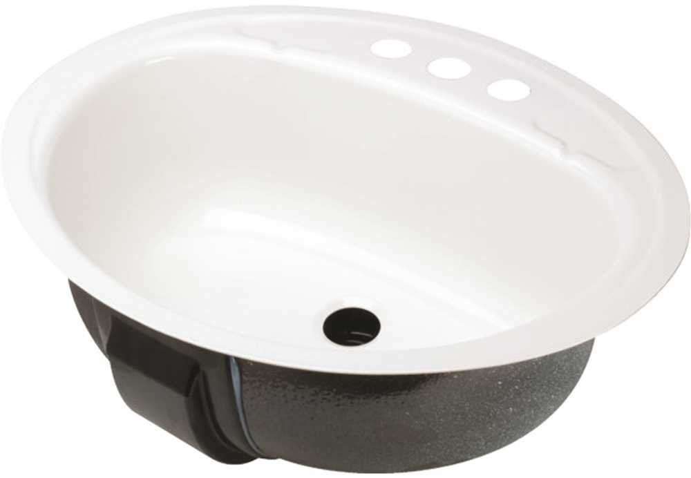 Bootz Industries 021-2440-00 Oval Bathroom Sink, Undercounter Mount 19 In. x 16 In. White - 581003 by Bootz Industries