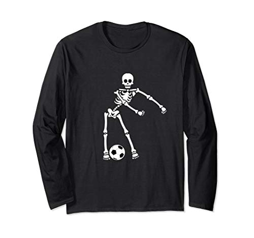 Skeleton Soccer Halloween Tshirt Flossing Dance Costume Kids -