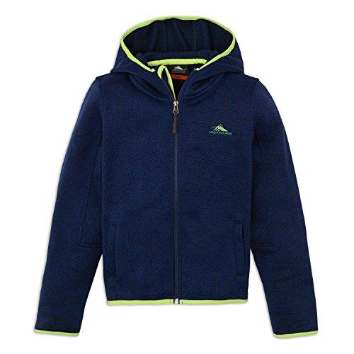 High Sierra Boys Funston Jacket, X-Large, True Navy/Chartreuse Company Value Fleece Jacket