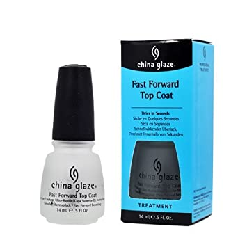 China Glaze FAST FORWARD TOP COAT Nail Polish 70578 Treatment Fast Dry 5 Oz