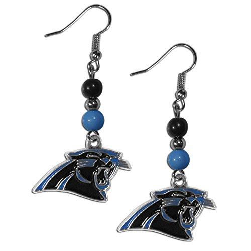 Siskiyou NFL Carolina Panthers Fan Bead Dangle Earrings ()