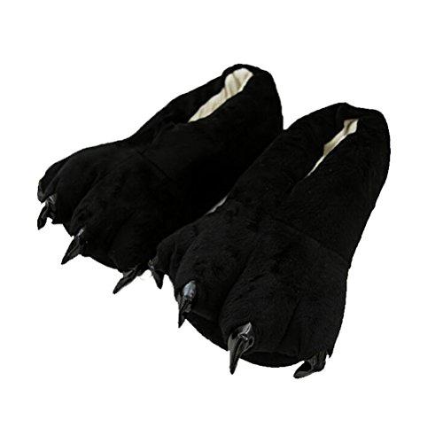 Notte Stile Camicie Pigiami e 3 da Peluche Pistone Nero Vogstyle Kigurumi Pantofole Caldo ApSqSz