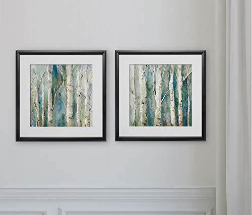WEXFORD HOME River Birch -2 Piece Set Art Print, 16X16, (River Birch Art Wall)