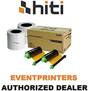 HiTi 4x6 2 Rolls of Ribbon and Paper Case for P750L Photo Printer 2000 Prints