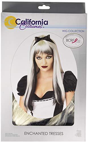 California Costumes Enchanted Tresses Wig, Black/White, One Size