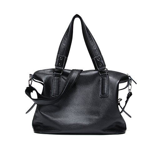 Bag Messenger Capacity Men's Black Shoulder Casual Men Handbag Leather High Genuine Bags qnztT76F