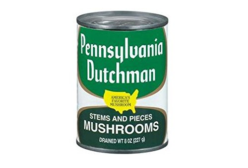 Pennsylvania Dutchman Mushroom Stems & Pieces (Pack of 3) 8 oz (Drained Weight) Cans
