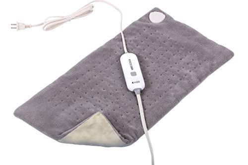 (Electric Heating Pad | Auto Shut Off Timer with 3 Temperature Settings | Moist and Dry Heat for Pain Relief in Back, Neck, Shoulder, Legs, Arms, etc.)