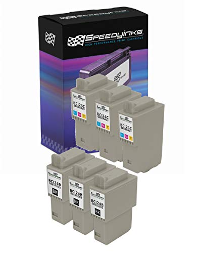 Speedy Inks Compatible Ink Cartridge Replacement for Canon BCI-24 and BCI-21 (3 Black, 3 Color, 6-Pack)