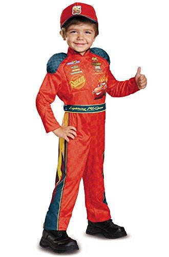 Cars 3 Lightning Mcqueen Classic Toddler Costume, Red, Medium (3T-4T) - Disney Pixar Cars Costumes