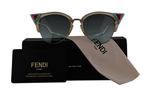 Fendi Authentic Sunglasses FF0041/N/S Yellow Green w/Green Aqua Gradient Lens C1EEQ FF 0041/N/S F0041/N/S FF0041S F0041S (52mm)