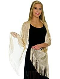 Shawls and Wraps for Evening Dresses, Wedding Shawl Wrap Fringes Scarf for Women
