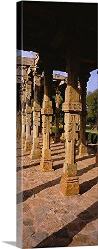 Ruins of a building, Quwwat-ul-Islam Mosque, Qutb Complex, New Delhi, India Gallery-Wrapped Canvas