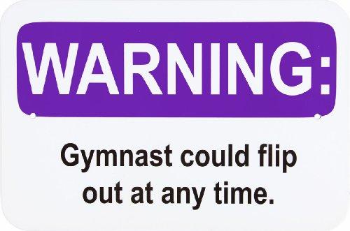 Purple Warning Metal Sign