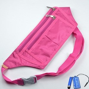 Bluecell Slim Water resistance Sporty Travel Waist Bag for Carrying iPhone 5 4S 3GS Cellphone (Hot Pink), Outdoor Stuffs