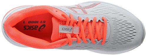 de Mujer Zapatillas Flash Running Grey Gt 1000 Asics Mid Gris Coral 021 para 7 RxqgfTnI4w