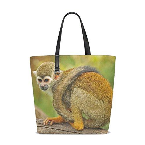 (Animal Monkey Squirrel Adorable Little Pet Cute Wild Pretty Tote Bag Purse Handbag For Women Girls)