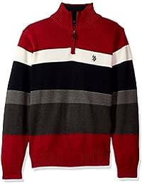 Men's Striped 1/4 Zip Sweater