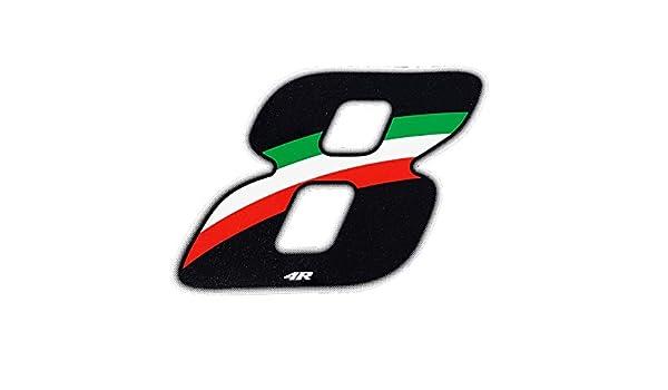 Quattroerre 13168 Numero Racing Flag 8 10 X 7,5 cm