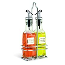 Cuisinox Oil and Vinegar Cruet Set with Caddy, Stainless Steel