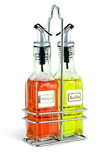 Cuisinox Oil and Vinegar Cruet Set with Caddy, Stainless Steel Cuisinox (Import) BOT-F