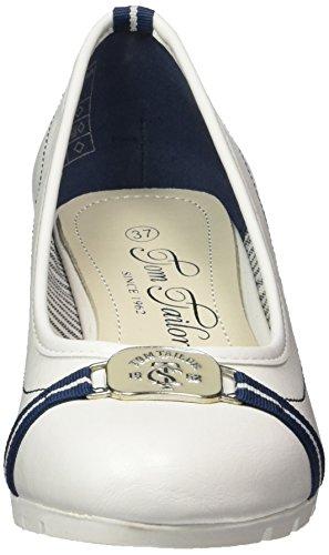 Tom Tailor Scarpe Bianco 4893602 Col Tacco Punta Chiusa Donna r6PqrA
