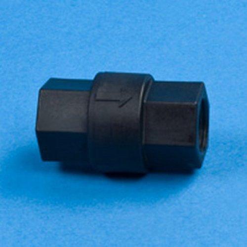 3//8 FNPT Polypropylene Check Valve w//FKM Seals /& 302 SS Spring