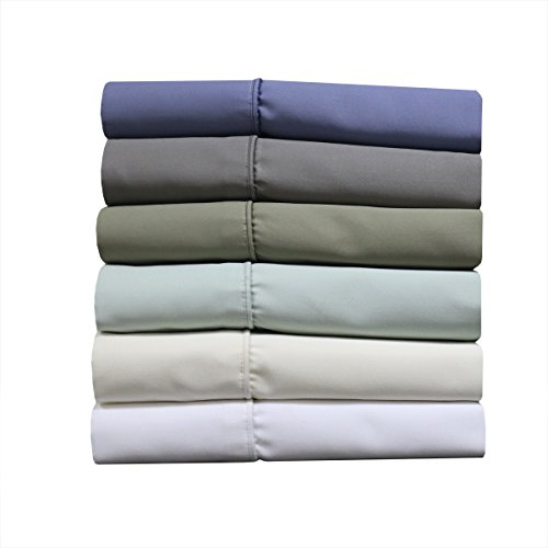 1000-Thread-Count Sheet Set, Cotton-Blend Wrinkle-Free Sheets, Deep Pocket, King, Solid White (Royal Hotel Bedding King)