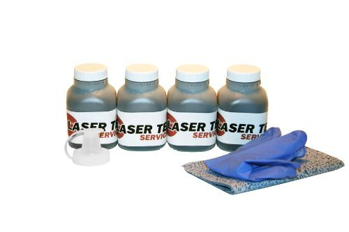 Laser Tek Services® 4 Pack Black Toner Refill Kit for the Brother TN-450 (TN450), HL-2130, HL-2240, MFC-7360N