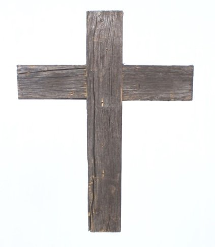 BarnwoodUSA Decorative Cross, Rustic Christian Home Decor, Recycled Wood (Espresso)