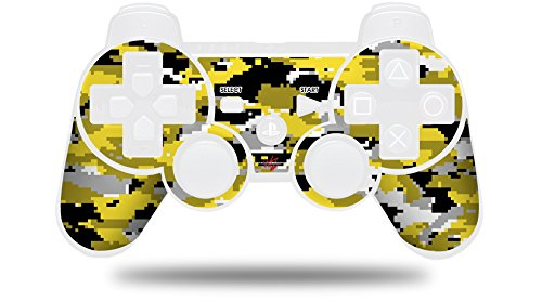 WraptorCamo Digital Camo Yellow - Decal Style Skin fits Sony PS3 Controller (CONTROLLER NOT INCLUDED)