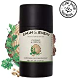 Each & Every All Natural Aluminum Free Deodorant for Men and Women, Cruelty Free Vegan Deodorant with Essential Oils…