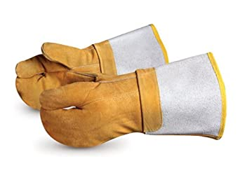 Superior 685BFi Brown Devil Chrome Tanned Leather High-Heat Welders Glove with Kevlar Sewn, Work, Brown (Pack of 1 Dozen)