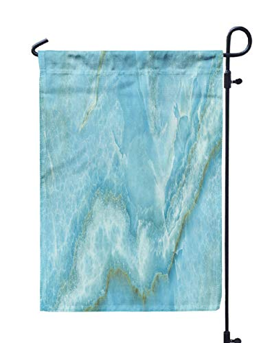 GROOTEY Welcome Outdoor Garden Flag Home Yard Decorative 12X18 Inches Aqua Onyx Marble Tone High Resolution Interior Exterior Decoration Business Industrial Double Sided Seasonal Garden Flags