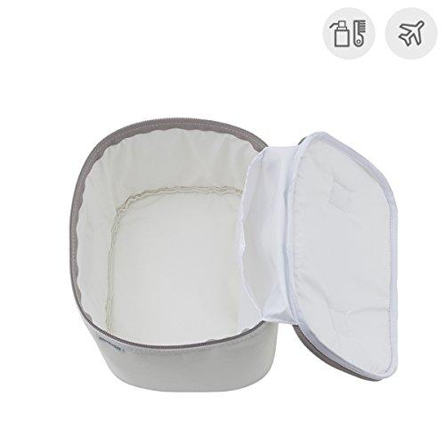Cambrass Swarovski - Bolso neceser mini, 19 x 24 x 17 cm, color celeste Blanco