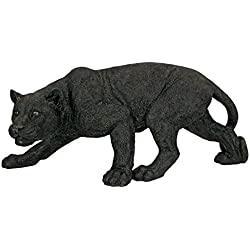 Design Toscano Shadowed Predator Black Panther Garden Statue, Medium 26 Inch, Polyresin, Black