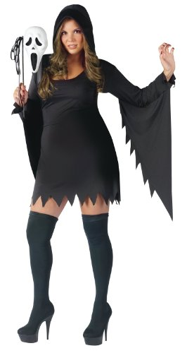 Ghost Face Female Plus Size Costume Item - (Mens Plus Size Ghost Face Costumes)