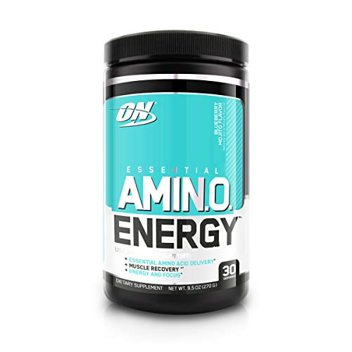 Optimum Nutrition Amino Energy - Pre Workout with Green Tea, BCAA, Amino Acids, Keto Friendly, Green Coffee Extract, Energy Powder - Blueberry Mojito, 30 Servings