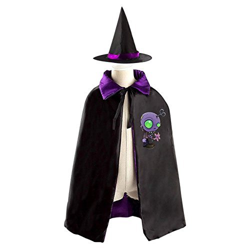 Queer Saucer Man Halloween Costume Wizard Witch Children Cloak Cosplay Cape Hat