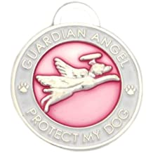 Luxepets Pet Collar Charm, Guardian Angel Dog, Pink