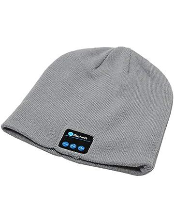 Wenwenzui-ES Moda inalámbrica Bluetooth Smart Music Hat Hombres Mujeres Algodón de Punto Sport Running