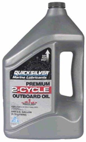 OEM Quicksilver Premium 2-Stroke Engine Oil, TC-W3, 1 Gallon 92-858022Q01