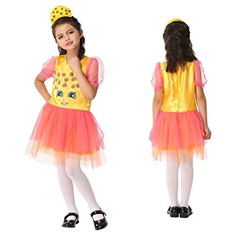 Girl's Sweet Bakery Goods Character Dress Ups Costume 2 Piece Set (Sweet Cookie) -