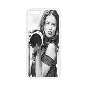 IPhone 6 Cases Sexy Model Adriana Lima for Teen Girls Protective, Luxury Genuine Case for Iphone 6 Bloomingbluerose, {White}
