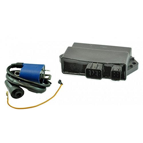Kit High Performance CDI Box + External Ignition Coil For Yamaha YFM 350 Raptor / Warrior 2002-2012 OEM Repl.# 5NF-85540-00-00 5YT-85540-00-00 5KM-82310-00-00 3KJ-82310-10-00