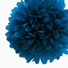 Dress My Cupcake DMC7323M 6 in. Mini Tissue Paper Pom Poms, Peacock Blue Turquoise Mini, Pack of 32