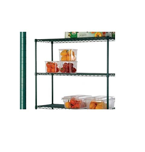 Commercial Epoxy Green Coated Wire Shelf Shelving Posts 74'' - 4 Posts