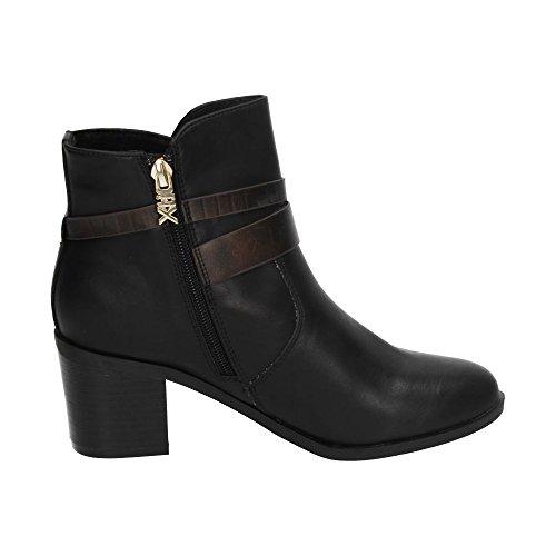 XTI  Botin Sra. C. Taupe .,  Damen Geschlossene Schuhe mit Absatz , schwarz - Schwarz - Größe: 36