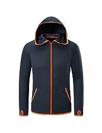 Karl Aiken® Mens Waterproof Jacket Hoodie Soft Quick Dry Breathable Jackets